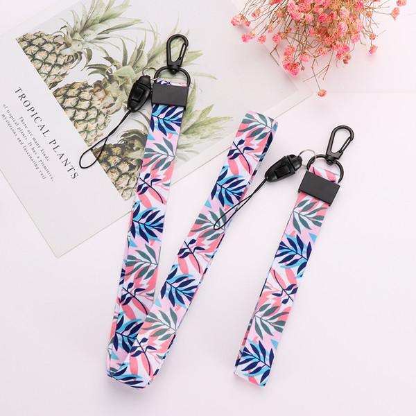 DIY Ribbon Band Long&Short Straps Keychain Women Girl Cute Pattern Key Ring For Bag Car Phone Charms Gift Fashion Decoration