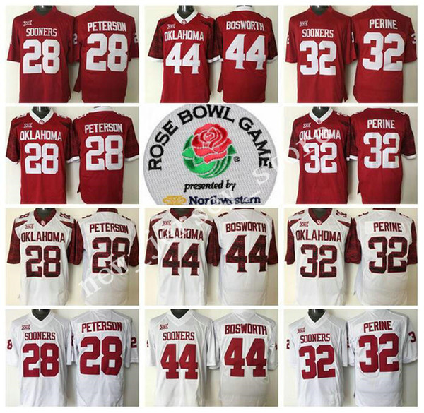 detailed look b23ad 9b509 2018 Ncaa Oklahoma Sooners College 6 Baker Mayfield Jersey Men Red White 14  Sam Bradford 5 Durron Neal Football Jerseys Embroidery Big 12 Xii From ...