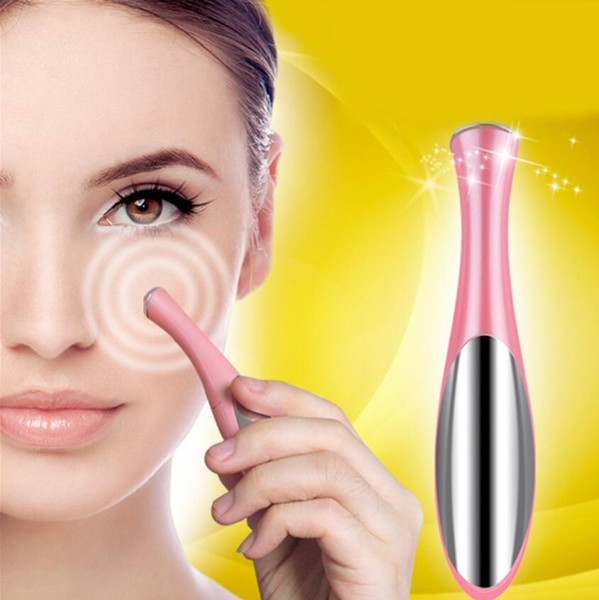 Ultrasonic Iron Import Instrument Eye Massage pen Makeup Beauty Products Tools Eyes Cream Lotion Care Eyes Remove Black Eye with box