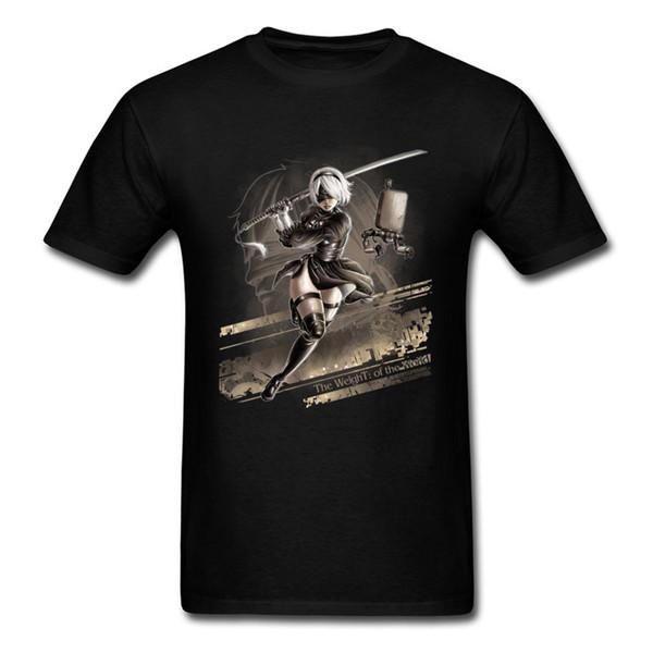 Magic Tshirt New Fashion Short White Shirts For Student Top Quality Men's Clothing Video Game Swordsman X Man T Shirt Mens
