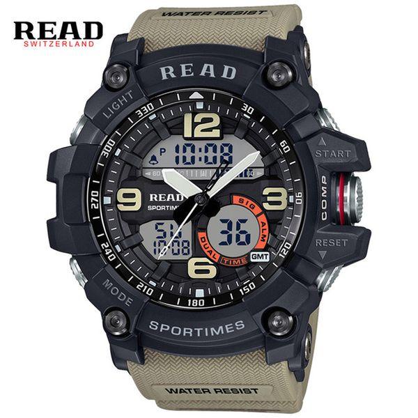 READ tops marke sport Dial Große digitale uhr Relogio elektronische armbanduhren für männer Silikon montre Chronograph