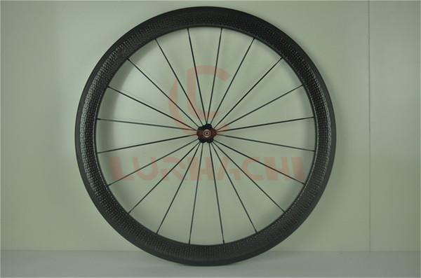 LURHACHI Juego de ruedas de 45 mm Juego de ruedas 700C 25 mm Ancho Superficie de hoyuelo Ruedas de carbono Ruedas de bicicleta de carretera con bujes Novatec o Powerway