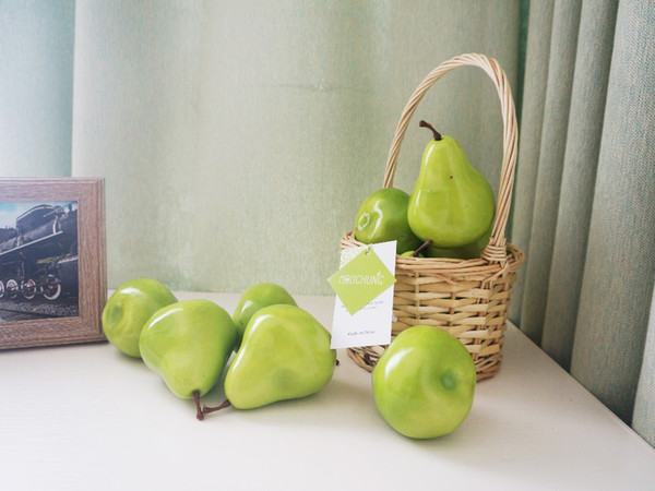 Birnen-große Birnen-künstliche Frucht der hohen Simulations-Birnenhaupthochzeits Dekoration 30pcs / lot 20pcs / lot geben Verschiffen frei