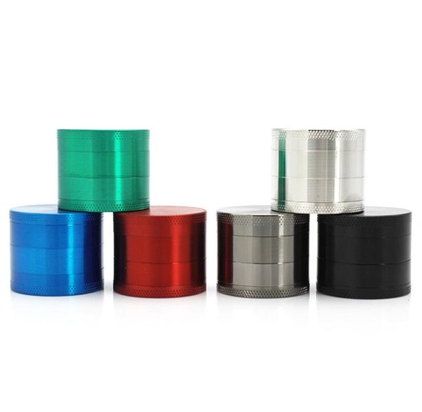 40MM CNC 4 Parts Smoking Herb Grinder Zinc Alloy Metal Tobacco Abrader 6 Colors Spice Pollen Hand Muller Crusher Grinders Tools Accessories