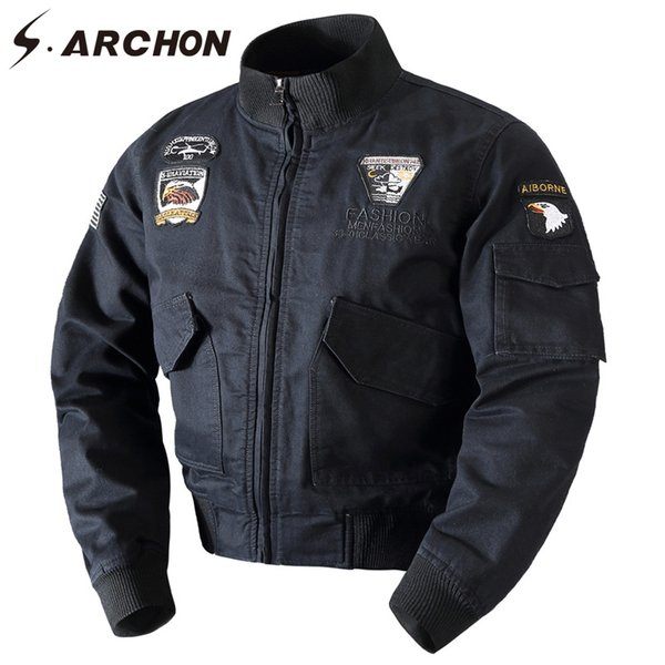 S.ARCHON Winter Warm Cotton Tactical Bomber Jacket Men Wool Liner Thick Thermal Coat Clothes Airborne Army Pilot Jacket
