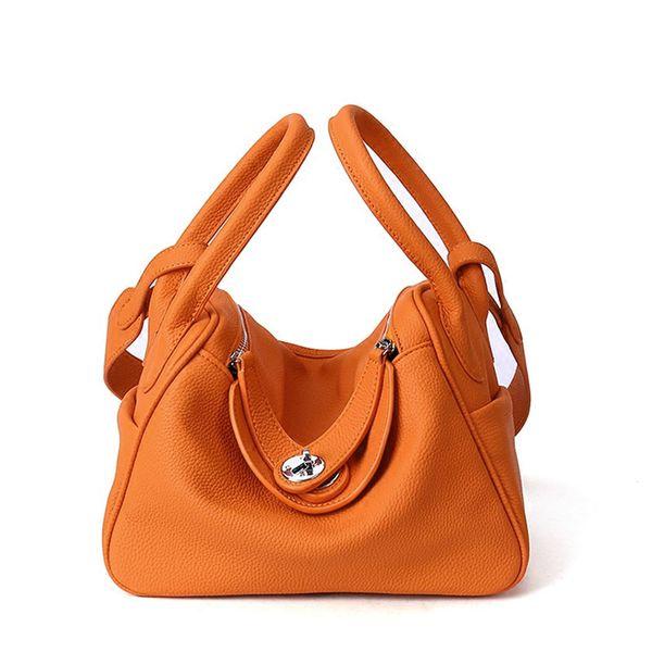 2018 Cow Genuine Leather Famous Designer Women Casual Tote Bags Handbags Hobo Shoulder Bag Solid High Capacity Hobos Bags Purse D18101005