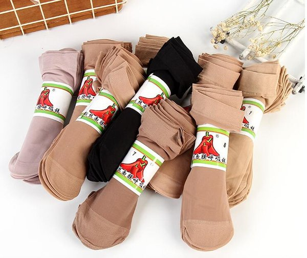 Free shipping 10 pairs a bag Short stockings Female Ultra thin Transparent Sexy Anti-hook wire Stockings Super cheap Disposable socks Ypf5