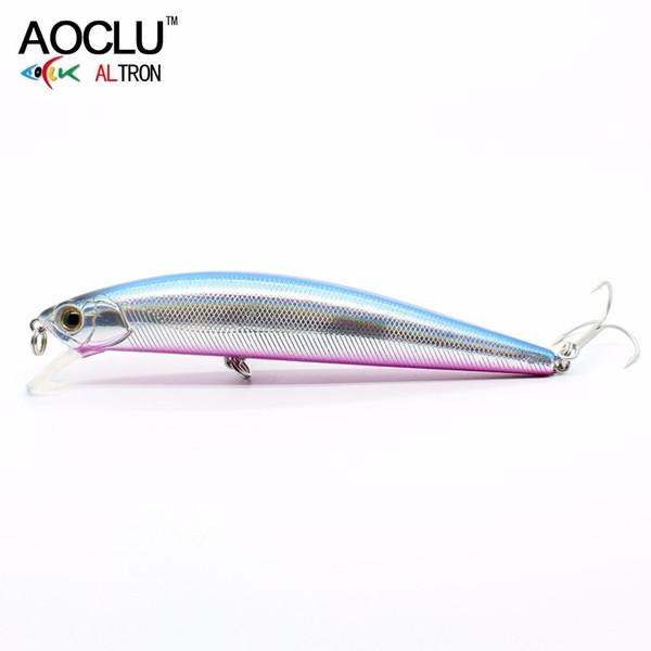 AOCLU wobblers Super Quality 5 Colors 11cm 23g Hard Bait Minnow Crank Fishing lures Bass Fresh Salt water 4# VMC hooks Y18101002