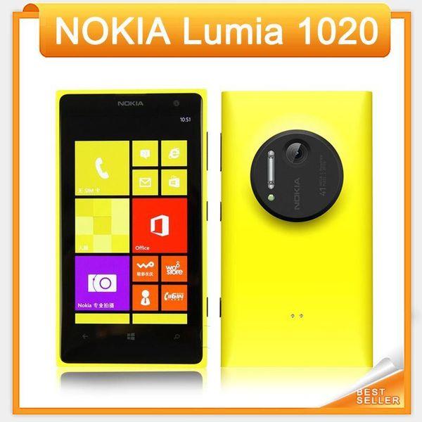 Original for Nokia Lumia 1020 for Windows Cell Phone 32g Rom Camera 41mp Nfc Bluetooth 3g / 4g 8 Dual Core Screen Refurbished Cellphone