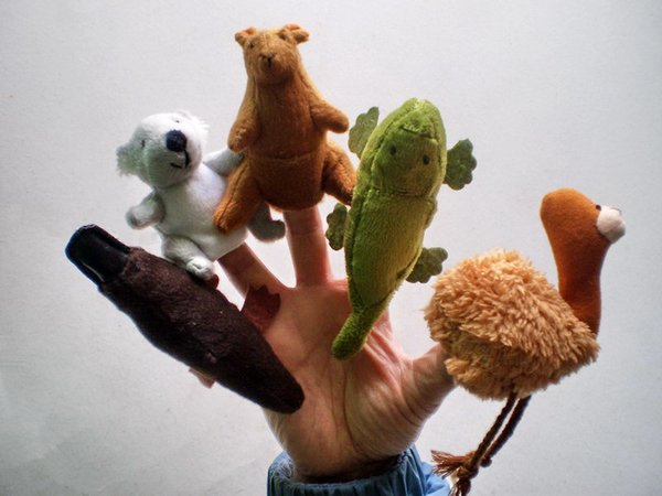 High Quality 5pcs/lot Cartoon Australian animals Finger Puppet Toy Finger Doll Baby Dolls Baby Toys Stories Props Finger Puppets
