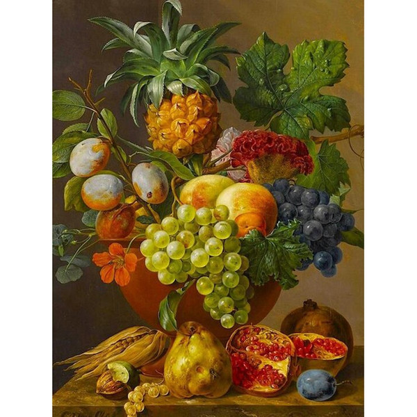 Frameless Fruits Diy Digital Painting By Numbers Kits Acrylic Paint By Numbers Europe Hand Painted On Canvas For Living Room Art