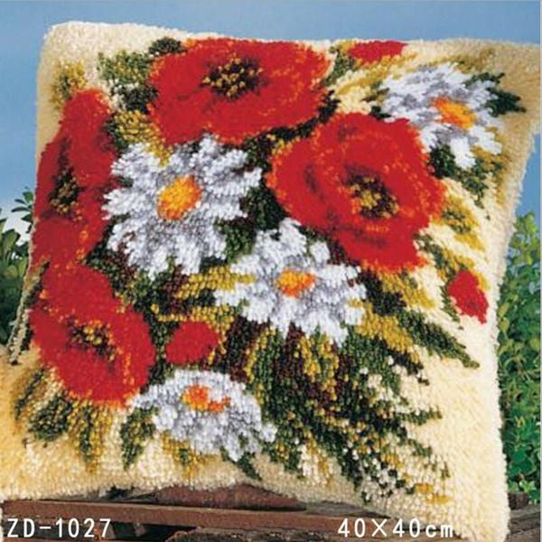 Almofadas Capa de Almofada De Pelúcia Recheado Travesseiro Casa Decorativa Fronha Dia Dos Namorados Presente Flores Estilo Sem Núcleo de Travesseiro