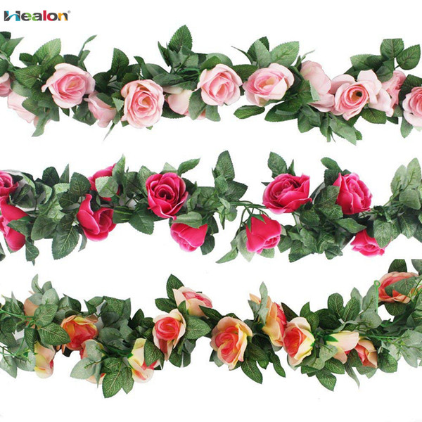 DIY Artificial Sunflower Garland Flower Vine for Home Wedding Floral Decor QP