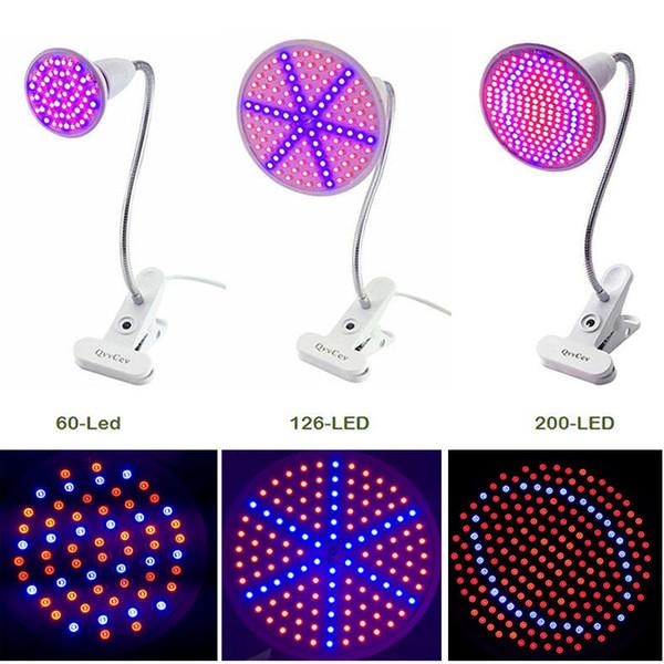 60 126 200 led wachsen glühbirne 360 flexible lampenfassung clip für pflanzenblume gemüsebau indoor gewächshaus hydroponik