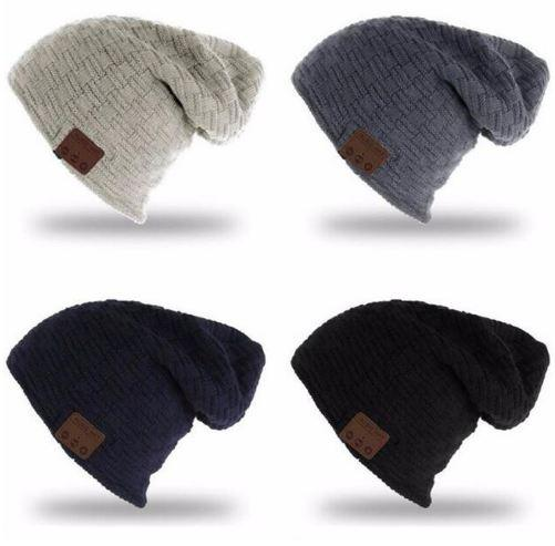 Wireless Bluetooth 3.0V Beanie Knitted Plus Velvet Winter Hat Headset Speaker Mic Hand-free Music Mp3 Magic Smart Cap