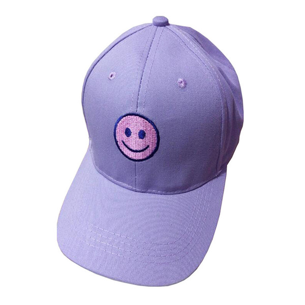 Baseball Cap Girls Boys Fashion Cotton Embroidery Smile Face Adjustable Hats Snapback Summer Casual Hats Hip Hop Cap #J21