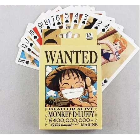 Animation one piece poker cards high quality Japan Anime Poker Wanted collection comic playing card board party game