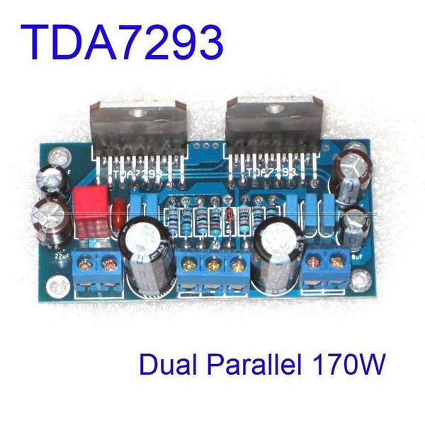 Freeshipping Assembled TDA7293 Dual Parallel 170W BTL Mono Audio Power Amplifier AMP Board