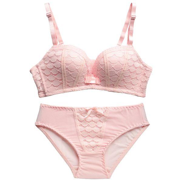 New Fashion Lady sous-vêtements en dentelle femmes ensemble Push Up Bra sans soudure sexy Brassiere sans fil soutiens-gorge pour petits seins Lingerie Set