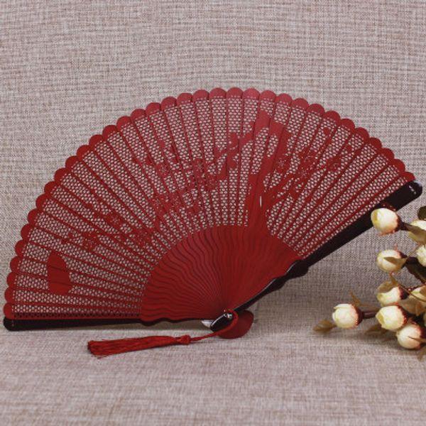 Openwork Full Bamboo Folding Hand Fan Japanese Small Handheld Portable Fans for Wedding Fan Women Gift
