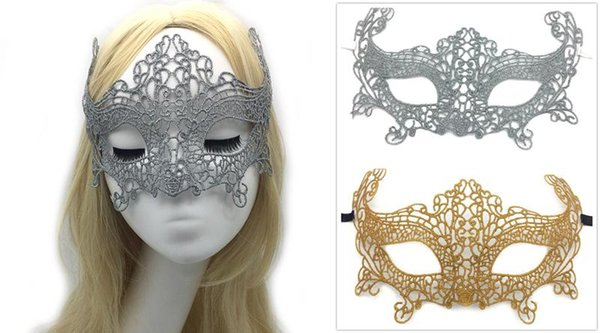 Gold Silver Sexy Lace Party Masks Women Ladies Girls Halloween Xmas Cosplay Costume Masquerade Dancing Valentine Half Face Mask