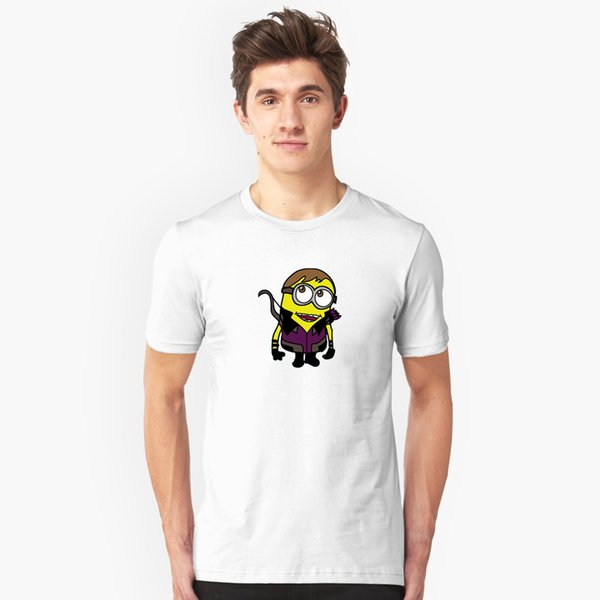 Minions Assemble Mineye Men's black and white three-color large size cotton short-sleeved shirt T-shirt leisure sweat-absorbent breathable c