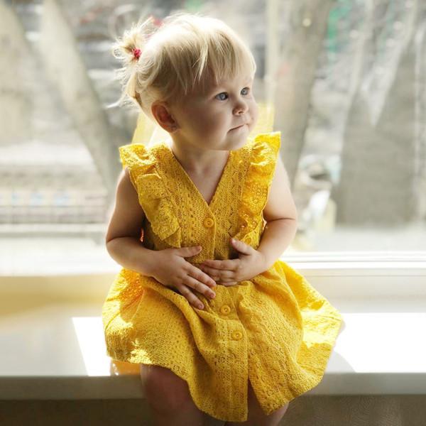 Ayı Lideri Kızlar Elbiseler 2018 Yeni Yaz Marka Çocuklar Kızlar için Prenses Elbise Sevimli Nakış Yay Tasarım 1-6Y Çocuk Giysileri