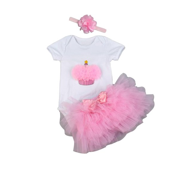 Cotton Baby Girl Body High Quality Short/Long Sleeved Baby Bodysuit Clothes Sets 1 year Birthday Clothing Newborn Clothes