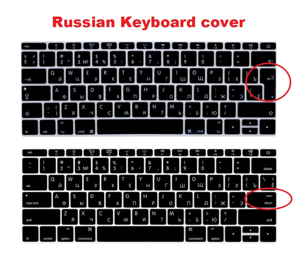 """Russian Euro USA Silicone Keyboard Cover Skin for Macbook New Pro 13"""" A1708 2016 2017 2018 (Only for No Touch Bar Version)"""