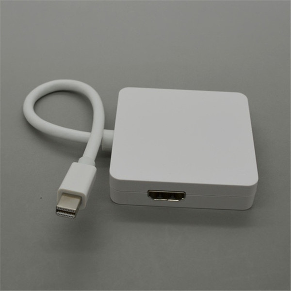 3 in 1 Mini DP DisplayPort to HDMI DVI VGA Adapter Cable Mini Display Port Cable Adapter for MacBook To Monitor TV High Quality