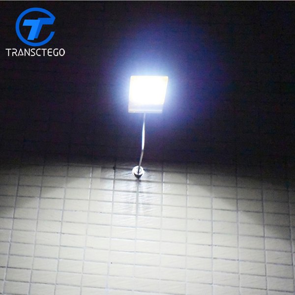 TRANSCTEGO Solar Energy Lamp Waterproof Outdoor Courtyard Garden Lamps Remote Control LED Solar Wall Light Home Lighting