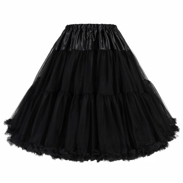 """New Arrival 50s Vintage Rockabilly Petticoat 25"""" Length Colorful Underskirt A Line Tulle Party Petticoat Short Party Tutu Dresses 6627RLL"""