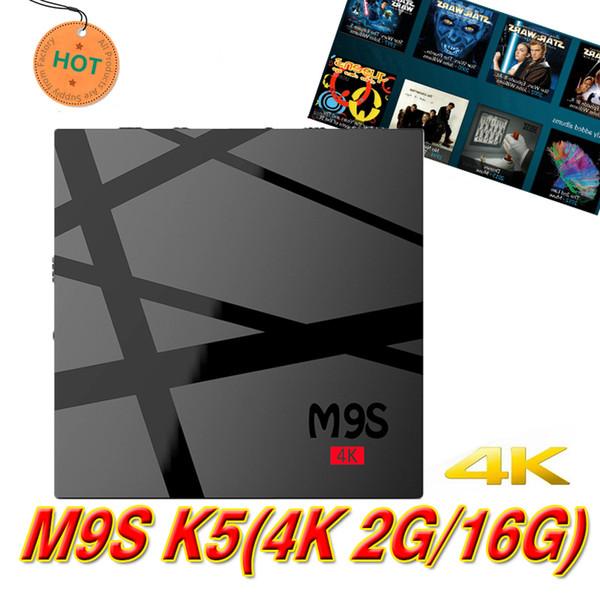 Best OEM TV Box Android 6.0 M9S 4K 2GB RAM 16GB Bluetooth Rockchip RK3229 TV Boxes Bluetooth 2.4G WiFi 3D 4K Video Streaming Media Player