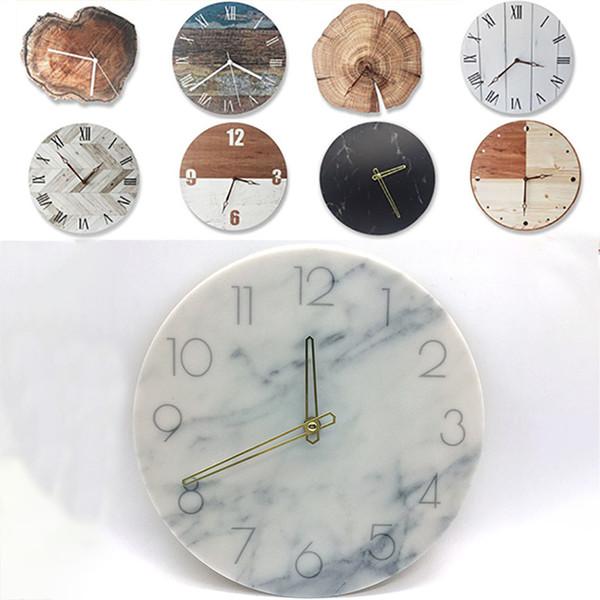 Retro DIY Ahşap Duvar Saati Yuvarlak Dijital Masa Saati Yaratıcı Sanat Çalar Saat Xmas Noel Hediye Için Ev Ofis Dekorasyon WX9-1090