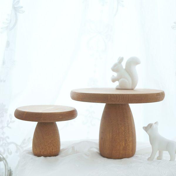 Plateau de table de dessert dessert de mariage petit champignon plateau en bois gâteau cadre en bois plaque de collation en bois vintage accessoires photo 10pcs