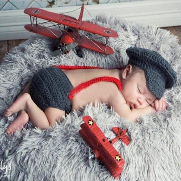 2017 New Baby Photography Props Three Piece Suit Newborn Hats Boy Red Gentleman Bow Tie Dark Grey Baby Photo Clothes Accessories