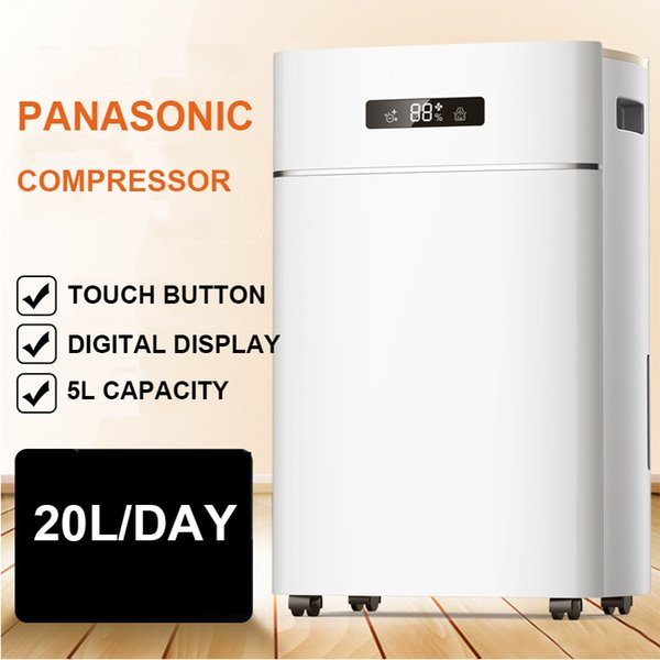 ER-620E Household Dehumidifier Air Dryer 5L Compatible Home Warehouse Office Dry Machine Home Clothes Dryer 20L/ Day