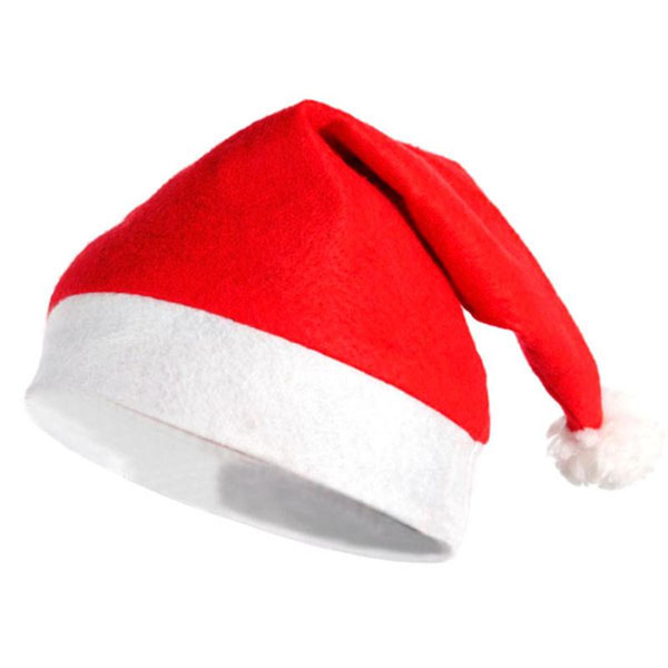 Classical Plush Fabric Christmas Hat (Red)