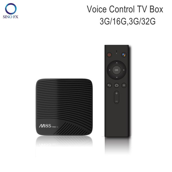 Mecool Voice Control TV Box M8S Pro L Android 7.1 Octa core Amlogic S912 3G/16G 3G/32G Bluetooth 4.1 smart media player