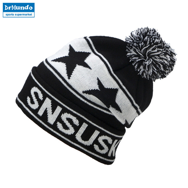 6e4b35342b1 2018 High Quality Winter Ski Hats Snowboard Warm Woolen Caps For Men Women  Star Hairball Female