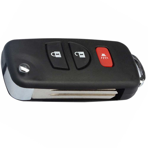 Car 3 Buttons Flip Folding Replacement Remote Key Case Shell For Nissan Fob Key Cover