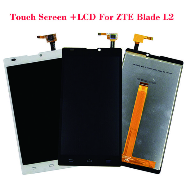 "100% Original New LCD Display For ZTE Blade L2 +5.0"" Black White Touch Screen Digitizer Glass Sensor Panel Replacement"