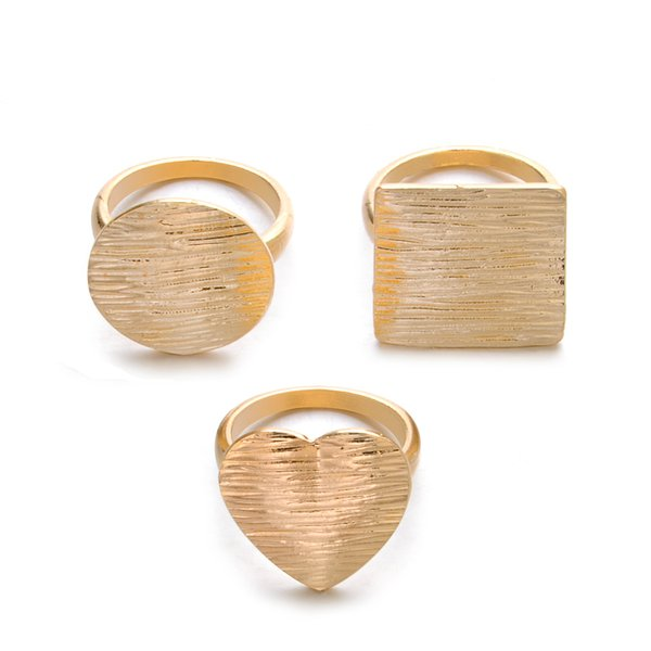 Fashion Rings Set Women Metal Feel stripes irregular love geometry personalized ring Fingernails Band Rings finger joint rings Jewelry Gift