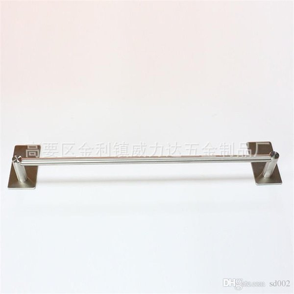 304 Stainless Steel Towel Rack Single Pole Shower Room Hanger Kitchen Paste Wall Rail Holder Hardware Accessories 24jl3 Ww