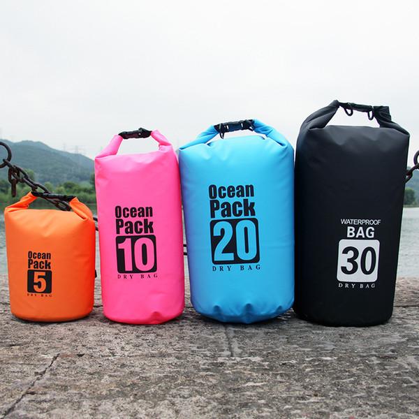 River Trekking Borse Zaino 20L 30L Top Quality Impermeabile 500D PVC Pieghevole Ultra-leggero Dry Air Drifting Sac Saccheggia