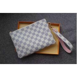 2019 M63447 WOMEN STRAP BRING CITY POUCH PURSE WALLET BAG WHITE wallet purse Belt Bags Mini Bags Clutches ExoticsNew