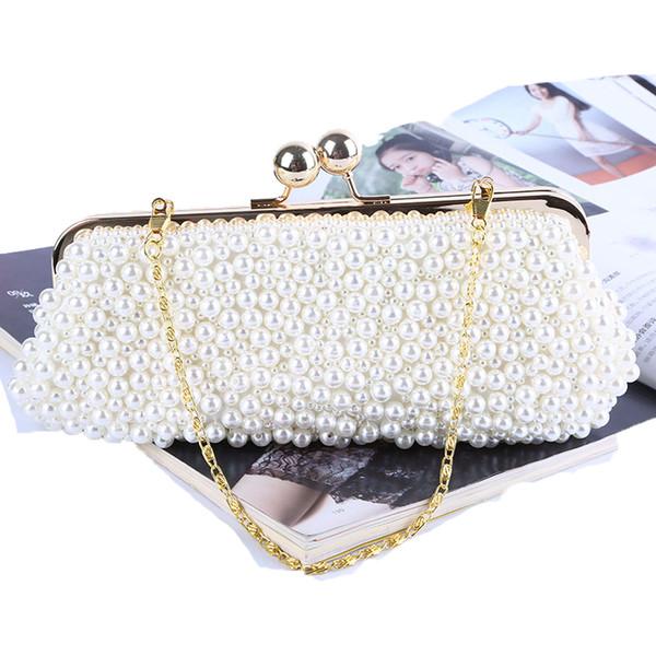 Voller wulstiger Frauenweinleseabend bauscht sich Nachahmungsperlenschale geformte Frauentaschen-Umhängetaschen, Handtasche für die Hochzeit