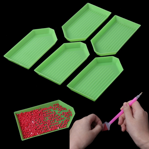 5Pcs DIY 5D Diamond Painting Rhinestone Plate Tray Embroidery Cross Stich Tool Sewing Tools Accessory