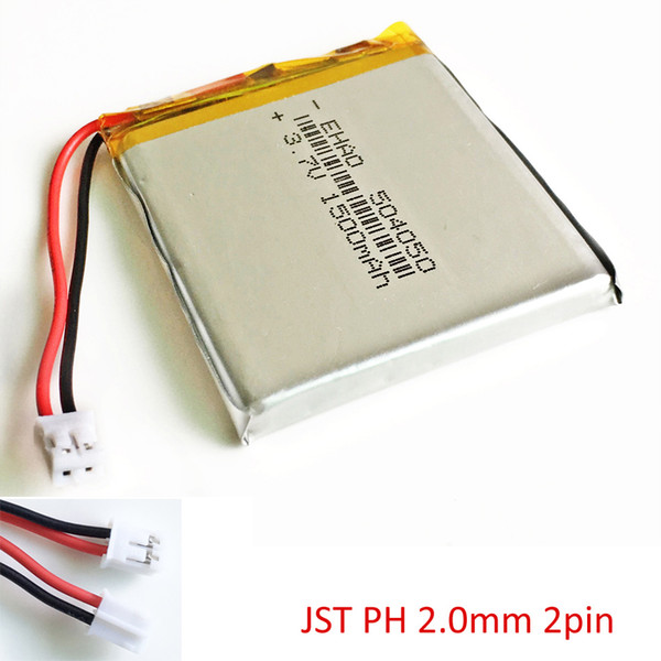 top popular EHAO 504050 3.7V 1500mAh LiPo Rechargeable battery JST PH 2.0mm 2pin connector For DVD PAD mobile phone bluetooth camera tablet pc 2021