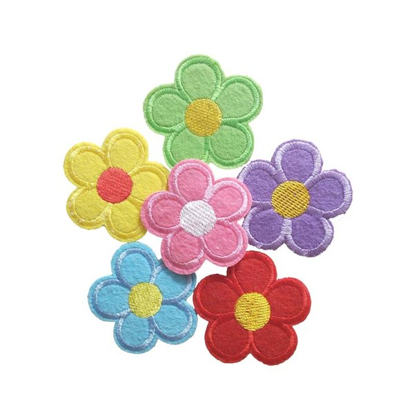 Embroidered cloth patch Dia. 5cm flower shape appliques Back gum Ironing stick /sewing decorative patches clothing accessories DL_CPIF007